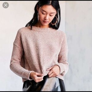 Urban Outfitters chenille crop sweater medium